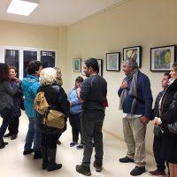 Exposició de quadres elaborats pels joves de l'entitat
